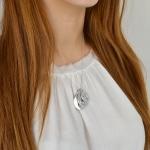 fingerprint teardrop pendant