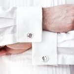 silver personalised cufflinks