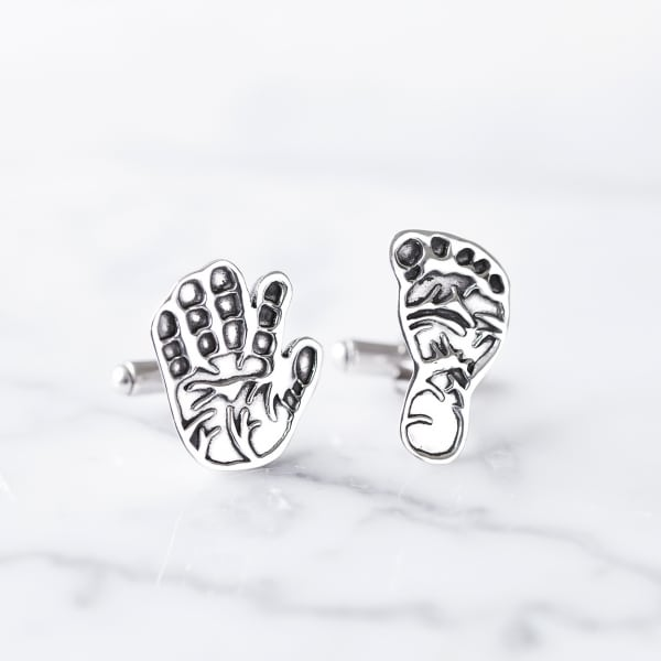 Cufflinks Sculpted Hand Foot