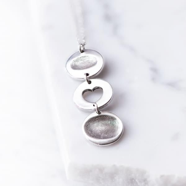 fingerprint drop necklace