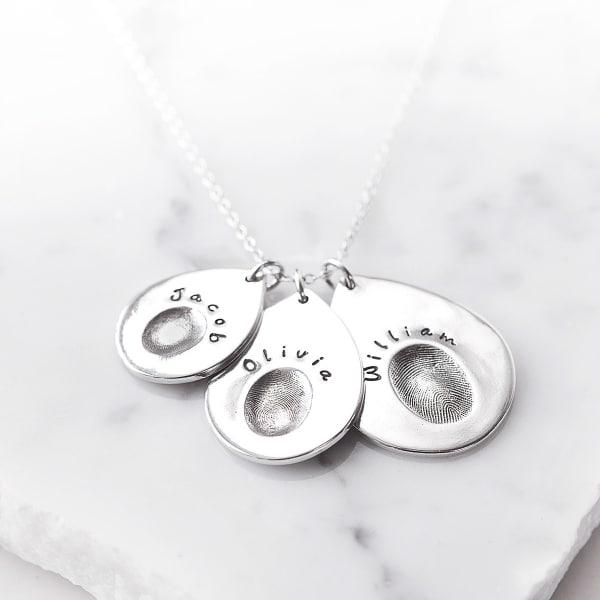 multi fingerprint necklace