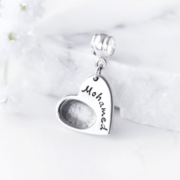silver fingerprint charm pandora