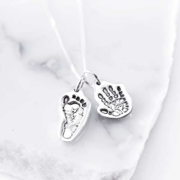 Hand Foot Print Necklace