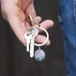 photo charm key ring