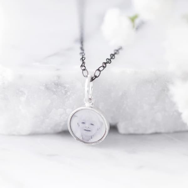 photo charm necklace