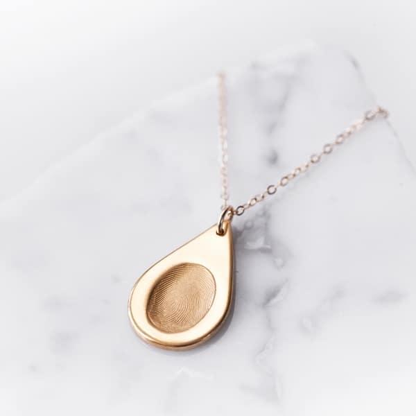 gold fingerprint necklace