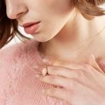 rose gold fingerprint necklace