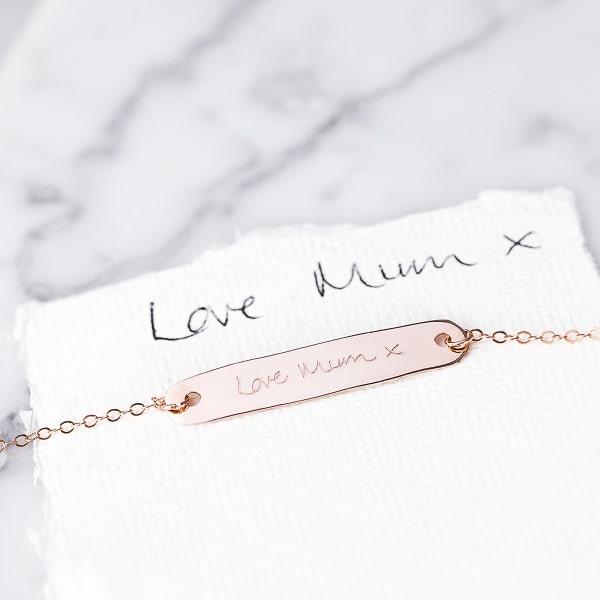 rose gold custom necklace