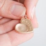 gold fingerprint charm