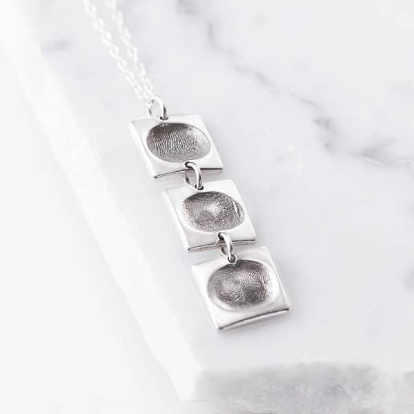 Drop link pendant square